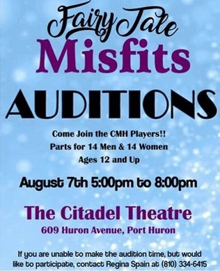 Fairy Tale Misfits Audition Flyer